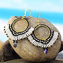 HaiFiy Bohemian Women Earrings Bling Crystal