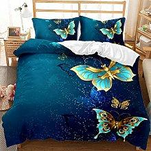 HAIHUW Dark blue Duvet Cover King 3D Animal