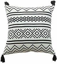 HAIMEN Tasseled Cushion Covers - Geometric Pattern