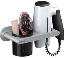 Hair Dryer Holder Wall Mounted Hair Dryer Hanging Rack MNFTJ-289 Grey