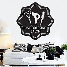 Hairdressing Salon Logo Wall Decal Beauty Hair