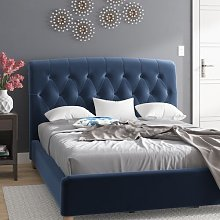 Haire Upholstered Bed Frame Wrought Studio Size: