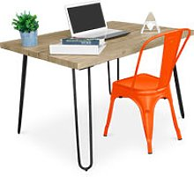 Hairpin 120x90 Desk Table + Tolix Pauchard Style