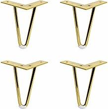 Hairpin Table Legs, 4 pcs DIY Furniture Metal