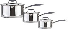 Hairy Bikers 3 Piece Stainless Steel Non Stick