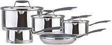 Hairy Bikers 5 Piece Stainless Steel Non Stick