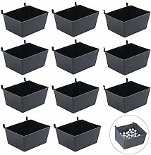 Haishell 11 Pcs Pegboard Bins for Parts Storage