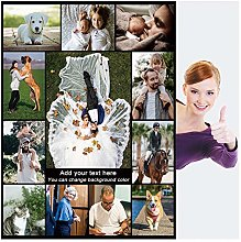Haisimiery Personalised Blanket with Picture for