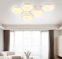 HAITOY Modern Hexagonal Honeycomb Chandelier Light