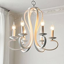 HAITOY Pendant Light with 6 Candle, Country