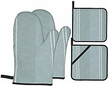 HaiYI-ltd Oven Mitts and Pot Holders 4pcs Set,Duck