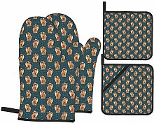 HaiYI-ltd Oven Mitts and Pot Holders 4pcs