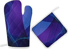 HaiYI-ltd Oven Mitts and Pot Holders Set,Abstract