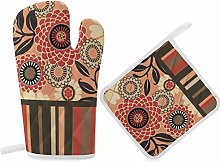 HaiYI-ltd Oven Mitts and Pot Holders Set,Floral