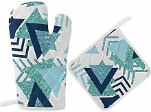 HaiYI-ltd Oven Mitts and Pot Holders Set,Luxury
