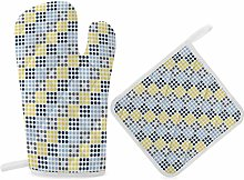 HaiYI-ltd Oven Mitts and Pot Holders Set,Navy