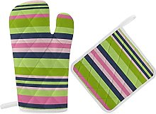 HaiYI-ltd Oven Mitts and Pot Holders Set,Preppy