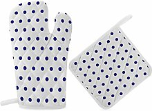 HaiYI-ltd Oven Mitts and Pot Holders Set,White And