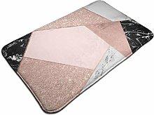 HaiYI-ltd Rose Gold Glitter Black White Marble