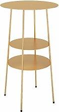 HAIZHEN Sofa tables 3tier Storage Wrought Iron