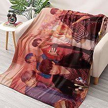 HAIZIVS Kpop BTS Band Flannel Throws Blankets