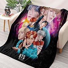 HAIZIVS Kpop BTS Ultra Soft Flannel Throws