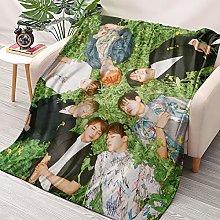 HAIZIVS Kpop BTS World Tour Flannel Throws