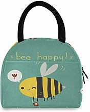 HaJie Lunch Bag Cute Animal Bee Quote Lunch Box