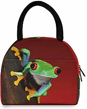 HaJie Lunch Bag Frog Animal Pattern Print Lunch
