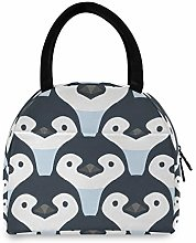 HaJie Lunch Bag Penguin Animal Pattern Print Lunch