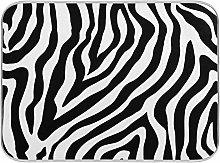 HaJie Quick Drying Mat Microfibre Drying Pad Zebra