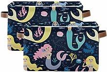 HaJie Storage Basket with Handle Animal Mermaid