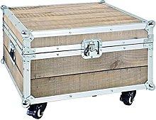 HAKU Furniture lowboard, Pine-Aluminium, W D: 52 x
