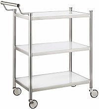 HAKU Furniture Serving Trolley on Wheels with 3