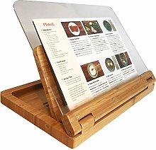 Hala Flip Cookbook Holder Bamboo Large with