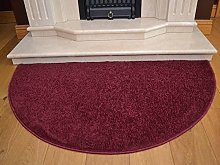 Half Moon Dark Red Wine Burgundy Semi Circle Floor