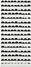 Half Moon Wallpaper by Ferm Living White/Black