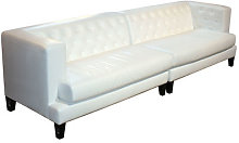Hall Straight sofa - 4 seats - Leather version by