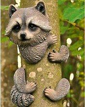 Hallock Raccoon Garden Tree Peeker Sol 72 Outdoor