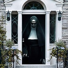 Halloween 3D nun door sticker scary nun lifelike