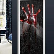 Halloween 3D visualization 78x28 inch full door