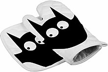 Halloween Bat Black Heat Resistant Oven Gloves