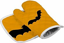 Halloween Black Bat Heat Resistant Oven Gloves