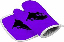 Halloween Black Ghost Heat Resistant Oven Gloves