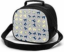 Halloween Blue Yellow Insulated Lunch Bag Mini