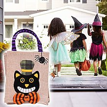 Halloween Candy Bag, Halloween Cute Cat/Witches