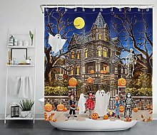 Halloween Cosplay Party Shower Curtain Ghost