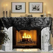 Halloween Decoration Black Lace Spiderweb