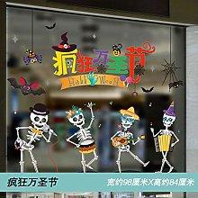 Halloween Decoration Door Stickers Pumpkin Lantern