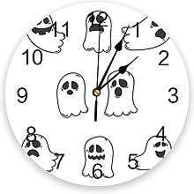 Halloween Decorations PVC Wall Clock, Silent